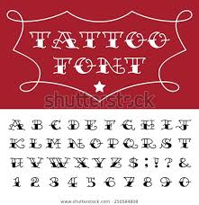 Stock Vektor Alphabet Tattoo Vector Font Type Letters Bez