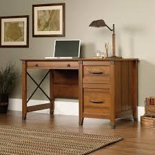 desks for office. Traditional Wood Sauder Desks Design With Drawer And Floor Lamp For Office Room