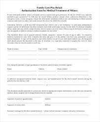 40 Printable Medical Authorization Forms PDF DOC Free Adorable Printable Medical Release Form For Children