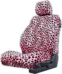 animal print pink dalmation seat cover