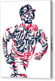 mookie betts canvas print mookie betts boston red sox pixel art 2 by joe hamilton on boston red sox canvas wall art with mookie betts canvas prints pixels