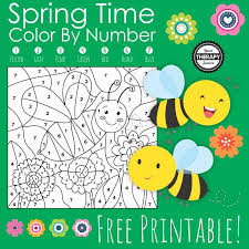 Drag the blocks from the outside to the inside to construct the image. Spring Color By Number Free Printable Your Therapy Source