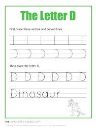 Free Worksheet: Tracing Letter D - Worksheets for Kids