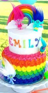 Poppy Troll Birthday Cake Topper Princess Trolls Cookie Ideas