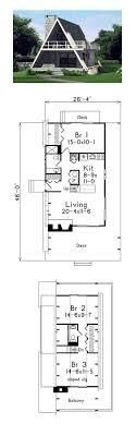 A Frame Contemporary Retro House Plan 86950. One Bedroom House PlansA ...