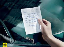 car insurance pretty funny unless you re the one receiving the note