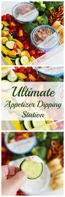 ultimate appetizer dipping station