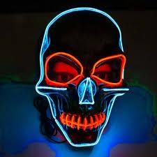 Light Up Skull Mask Hot Item Neon Nightlife Men S Light Up Scary Death Skull Mask