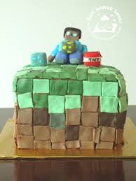 minecraft cake recipe. Delighful Cake He Is 8 Years Old Now A Minecraft Fondant Cake And Cake Recipe