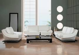 White Leather Living Room Furniture Modern White Leather Living Room Furniture
