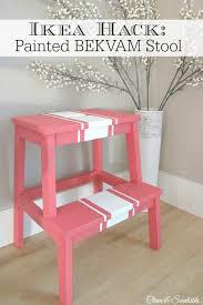 cute painted ikea bekvam stool cleanandscentsible com