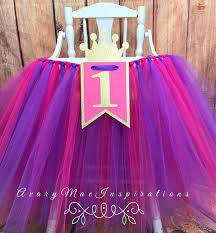 princess first birthday pink and purple high chair tutu high chair skirt princess