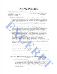 Real Estate Offer Letter Template Purchase Property Form Cool House ...