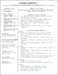 Example Of A Resume Summary Statement Resume Overview Sample Career ...