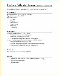 Job Resume Template Interesting Resume Template For First Job First Job Resume Template Legal