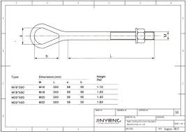 Eye Bolt Size Chart Pdf Forged Eye Bolts Oval Eye Bolt Jinyong Pole Line Hardware