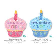 1pcs Giant 1st Birthday Cake Cweet Little Boy Girl Anagram Foil