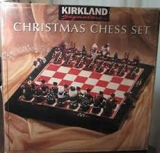Buy Kirkland Signature HUGE Wooden Christmas Chess set Holiday ...