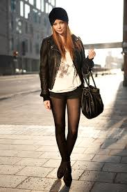 black leather jackets street style 14
