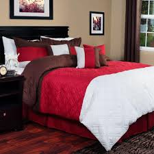lavish home layla 7 piece red king comforter set