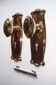 reclaimed door furniture. Genuine 1920\u0027s Oval Brass \u0026 Bronze Door Knob Set Complete Reclaimed Door Furniture