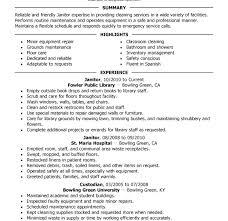 Maintenance Job Resume Samples Nice Janitorial Maintenance Resume