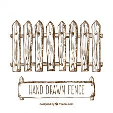 Hand drawn fence Vector Free Download