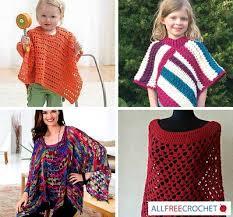 Free Crochet Poncho Patterns Simple 48 Crochet Poncho Patterns AllFreeCrochet