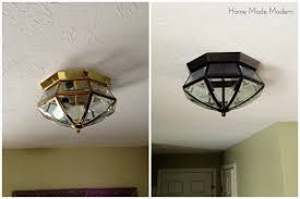 painting light fixtures. Great Spray Painting Light Fixture Painted Home Made Modern Bulb Switch Cover Brushed Nickel Fitting Shade Fixtures