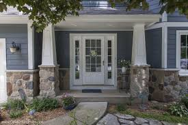 Home Exterior Decorative Accents Good Evening Blue Hardie siding stone accents Andersen 100 87