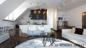 architect office design. 3D Architectural Rendering Office - Design By ARCHİTECT CEYDA İŞERİ BİLGE Apartment Project From İstanbul Architect