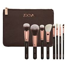 new zoeva rose golden brush set of 8 with clutch bag 100 genuine uk