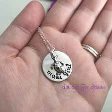 hand sted jewelry personalized jewelry maui hawaii beach island flip flop turtle s starfish sand dollar pewter necklace by danielle joy