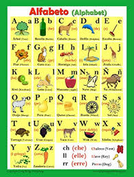 Spanish Language School Poster Alphabet Wall Chart For Home And Classroom Spanish English Bilingual Text 18x24 Inches