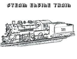 Train Engine Coloring Page Steam Engine Train Coloring Page On