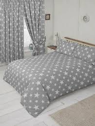 modern grey white stars funky duvet