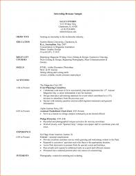 Resume Template College Student Example Of Entry Full Size Sample