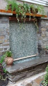 outdoor wall fountains