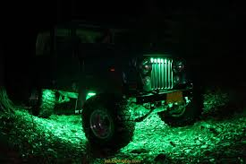 Green Led Light Strips Amazing Jeep