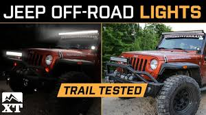 Best Led Light Bar For Jeep Wrangler The Best Jeep Wrangler Off Road Lighting Light Bars Rock Lights Flood Spot Light