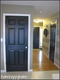 interior door painting ideas. Latest Half Doors Interior In Sophisticated Teak Wood Black With White Frames And Glossy Laminate Floors Also Portray Artwork At Grey Door Painting Ideas O