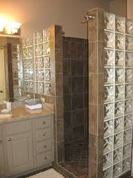 walk in showers no doors with glass boxes for bathroom wall plus modern  wooden vanity Compact and Accessible Bathroom Ideas Walk Showers No