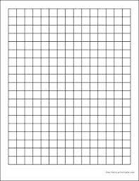 One Inch Graph Paper Printable Dark Lines Measurements Half Grid