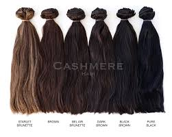 Hair Extension Color Chart Colors Shades Cashmere Hair