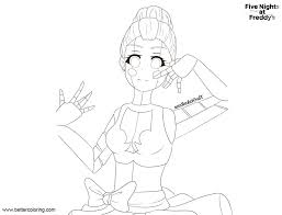 Fnaf Coloring Pages Sister Location Ballora By Theotakurena Free