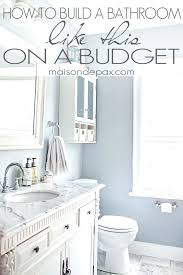 Remodeling A Bathroom On A Budget Cool Inspiration Ideas