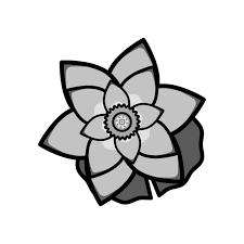 かわいい蓮の花の無料イラスト商用フリー オイデ43