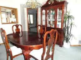 cherry dining room set solid chairs antique with hutch