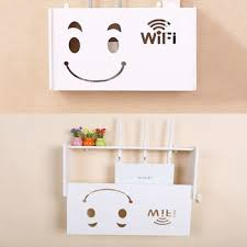 line box drilling wireless router wifi storage shelves