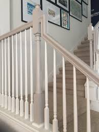 Painted Wood Stairs How To Paint Stairway Railings Baseboard Railings And Paint Stairs